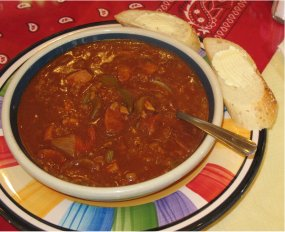 Andouille sausage & chicken gumbo